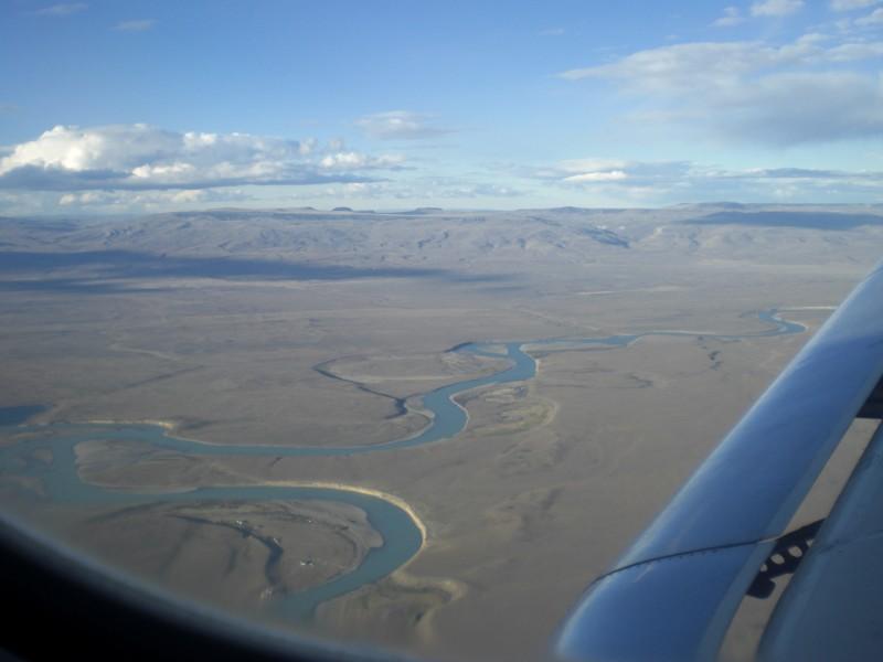 Rio de las vueltas, Fluss der Kurven aus dem Flugzeug