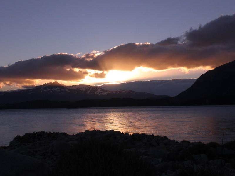 Sonnenuntergang am Campamento Los Cuernos